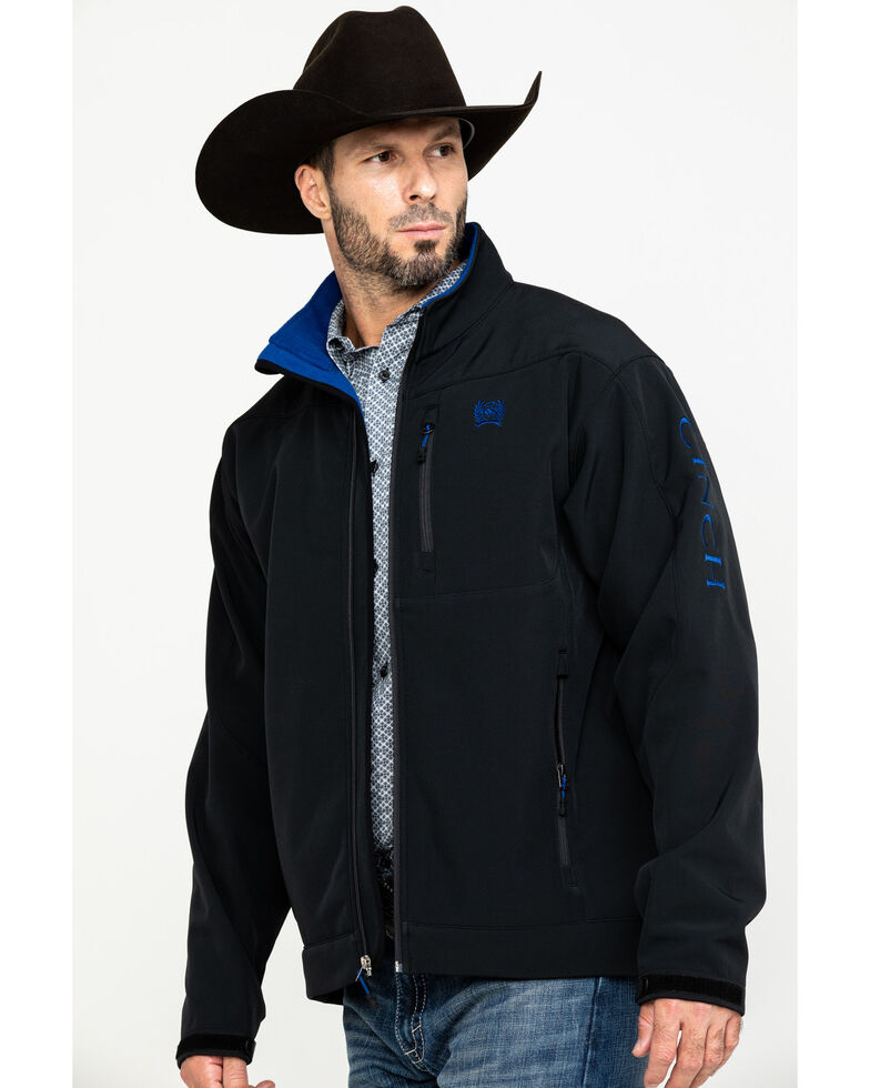 Cinch Men's Solid Bonded Jacket - Big , Black, hi-res
