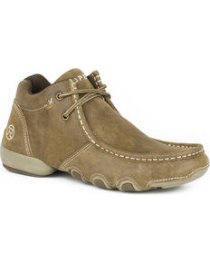 Roper Women's Tan High Country Cassie Chukka Shoes , Tan, hi-res
