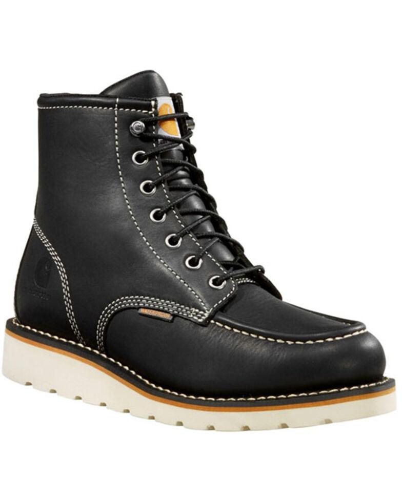 Carhartt Women's Black Flat Sole Waterproof Work Boots - Soft Toe, Black, hi-res