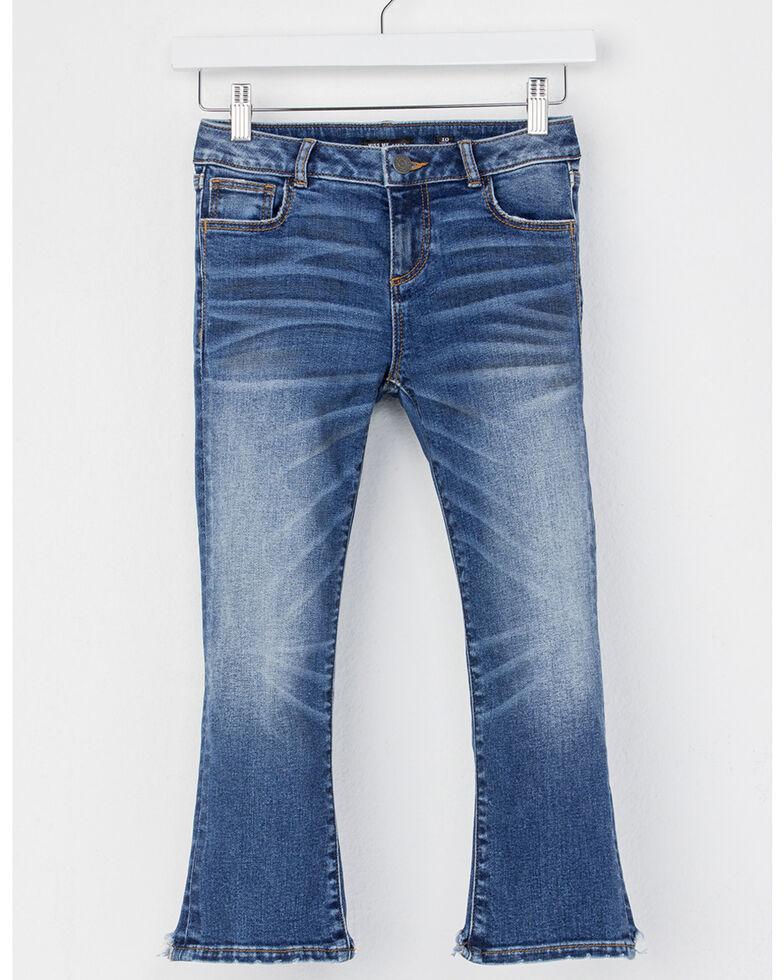 MIss Me Girls' (7-14) Crop Hem Bootcut Jeans , Indigo, hi-res