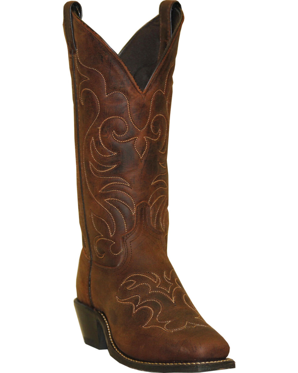 "Abilene Women's 12"" Square Toe Western Boots, Brown, hi-res"