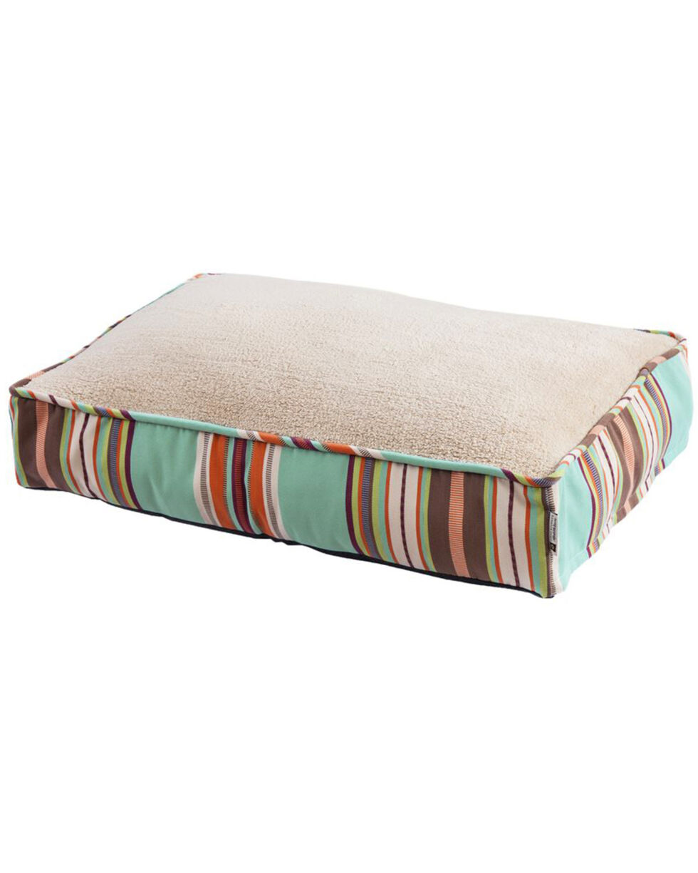 HiEnd Accents Turquoise Serape Print Dog Bed , Turquoise, hi-res