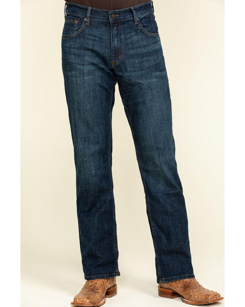 Wrangler Retro Men's Phillips Dark Relaxed Bootcut Jeans , Blue, hi-res