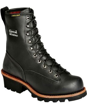 Chippewa Men's Rugged Outdoor Composite Toe Insulated Logger Boots, Black, hi-res