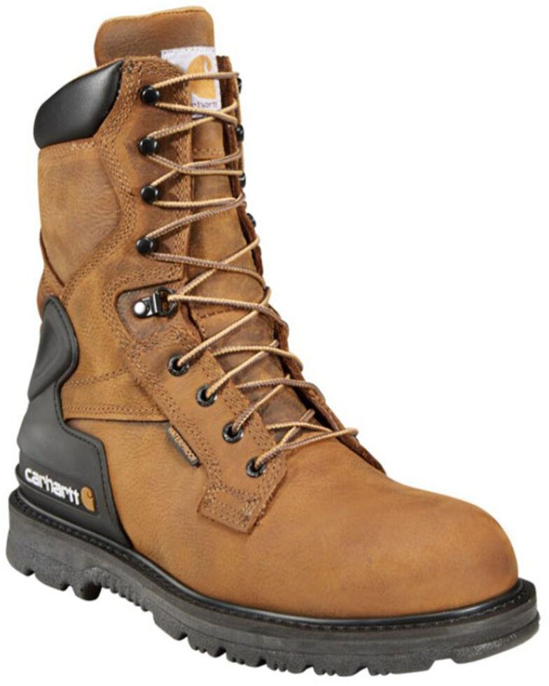 """Carhartt 8"""" Bison Waterproof Work Boots, Bison, hi-res"""
