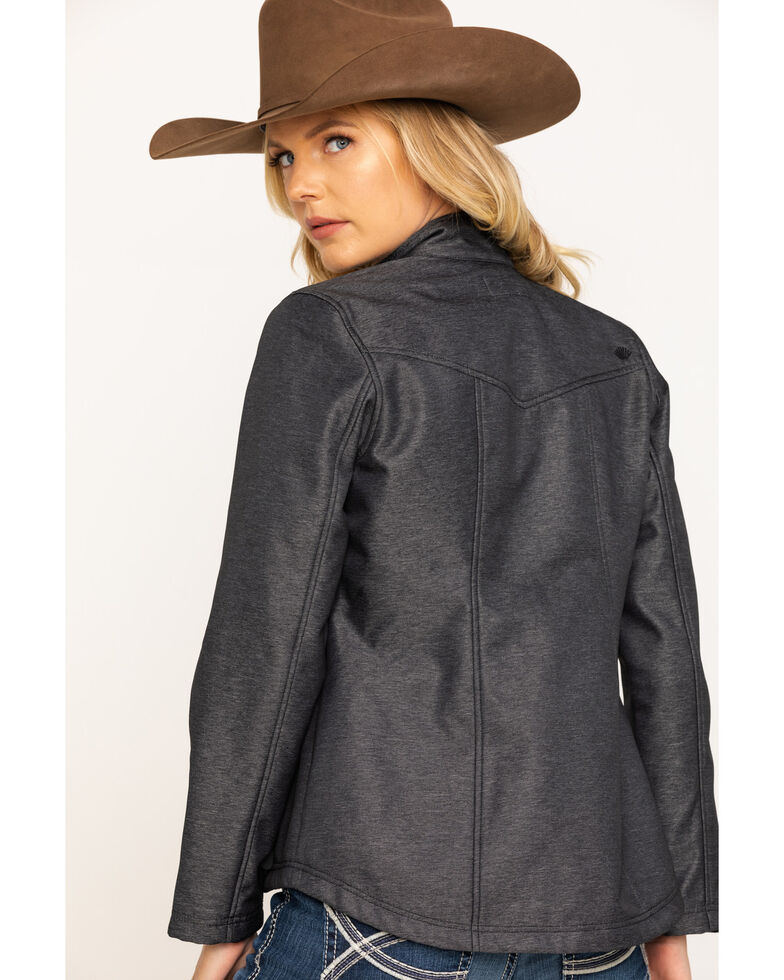 Shyanne Life Women's Heather Charcoal Softshell Jacket, Charcoal, hi-res