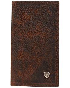 Ariat Men's Rodeo Shield Wallet, Brown, hi-res
