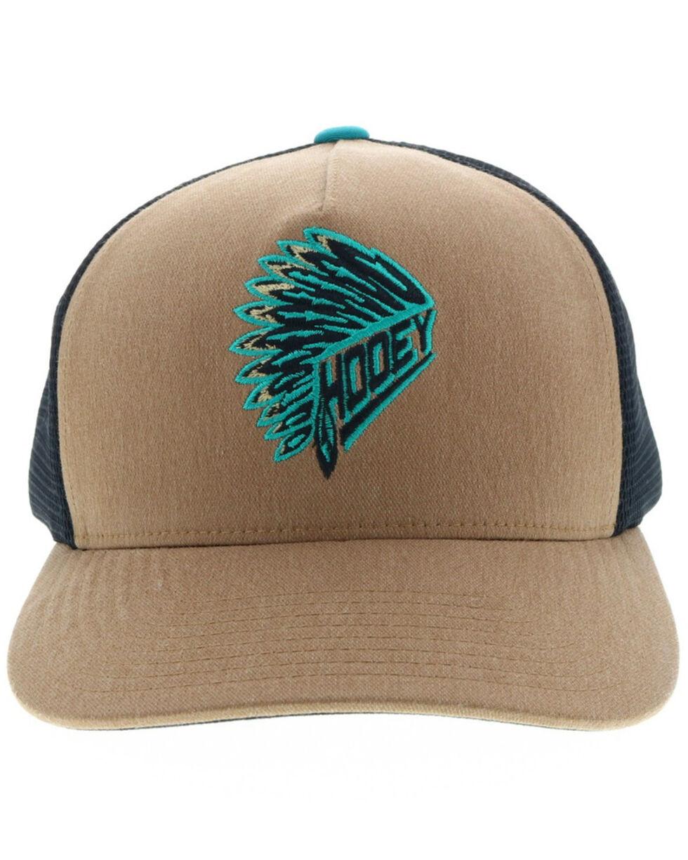 HOOey Men's Quanah Brown Trucker Cap, Brown, hi-res