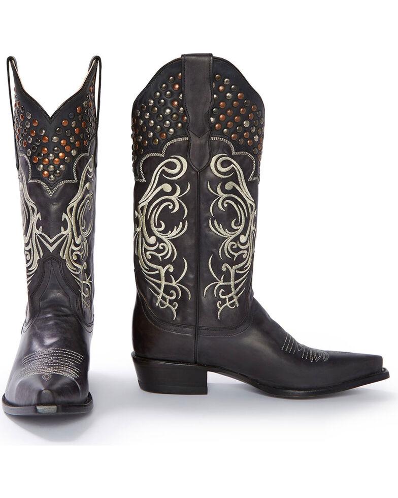 Stetson Women's Big Lila Western Boots, Black, hi-res