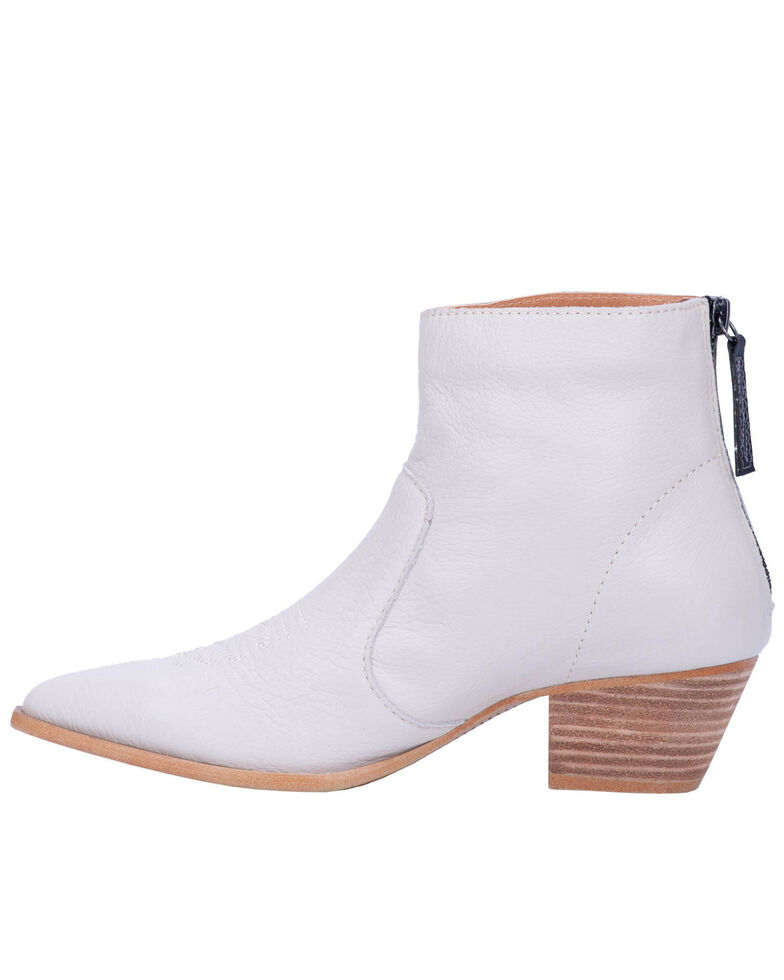 Dingo Women's Klanton Fashion Booties - Round Toe, Ivory, hi-res