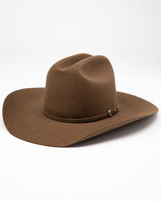 Rodeo King Men's 5X Top Hand Tan Belly Fur Felt Western Hat , Tan, hi-res
