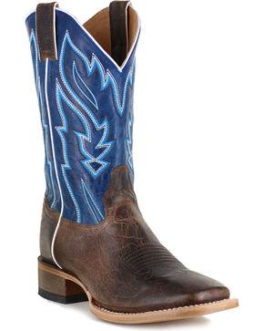 Cody James® Men's Vaquero Blue Fire Western Boots, Brown, hi-res