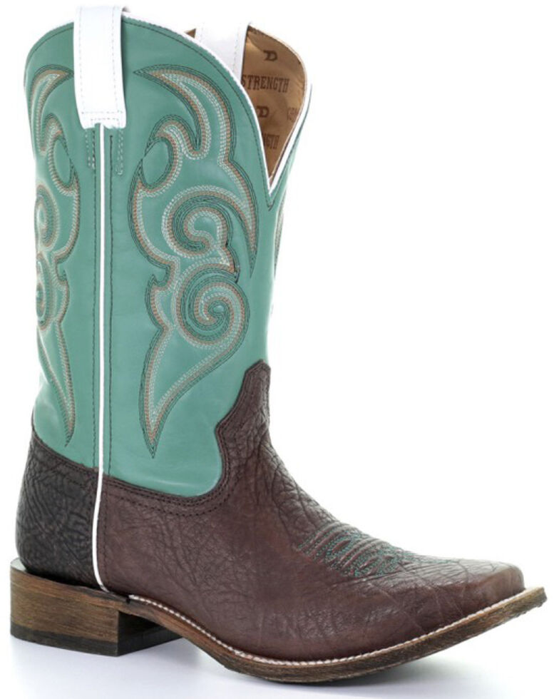 Corral Men's Tyson Money Maker Western Boots - Square Toe, Brown, hi-res
