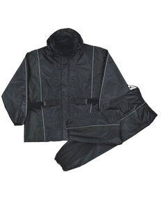 Milwaukee Leather Men's Reflective Heat Guard Waterproof Rain Suit - 5X, Black, hi-res
