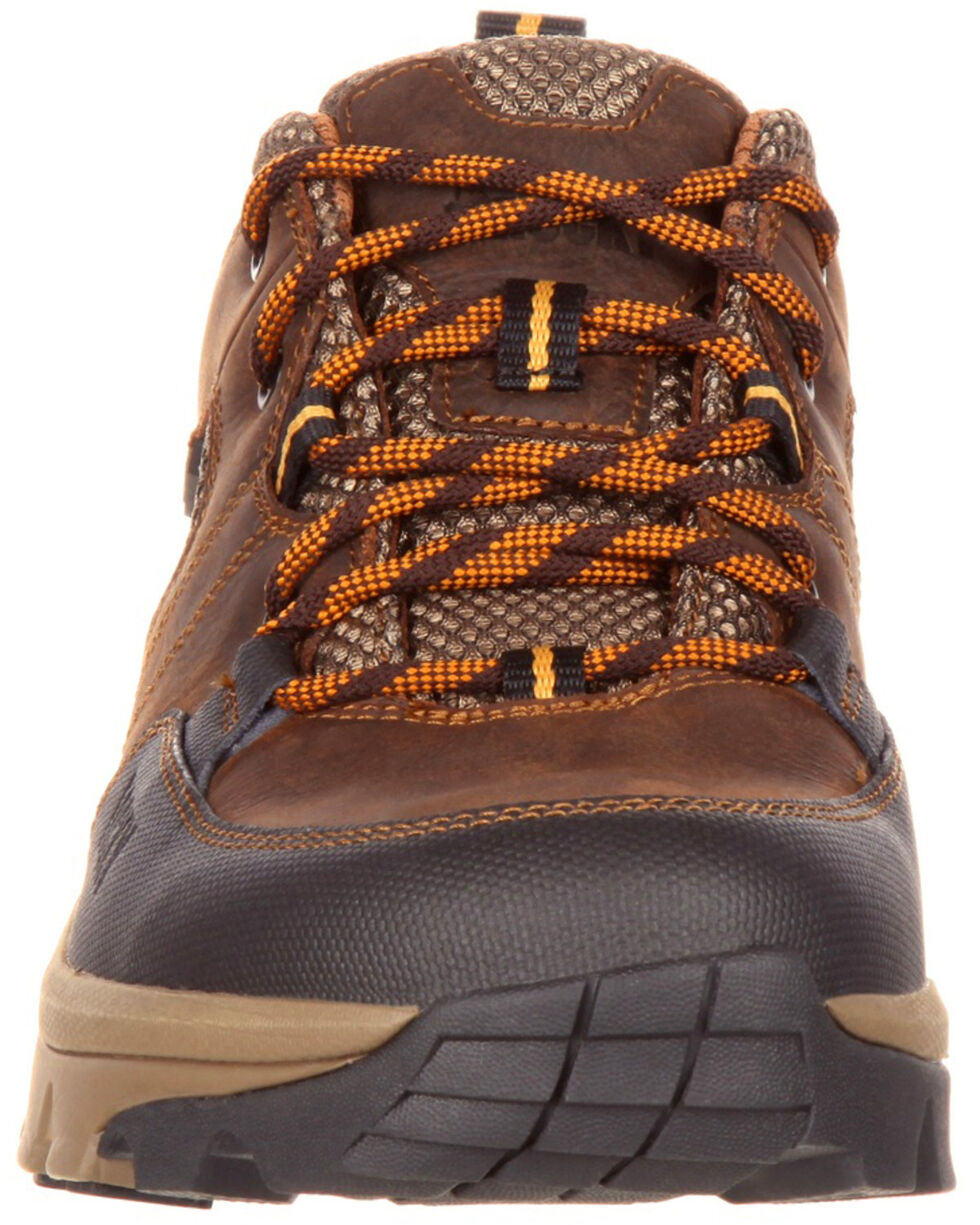 Rocky Men's Endeavor Point Waterproof Outdoor Oxford Shoes - Round Toe, Brown, hi-res