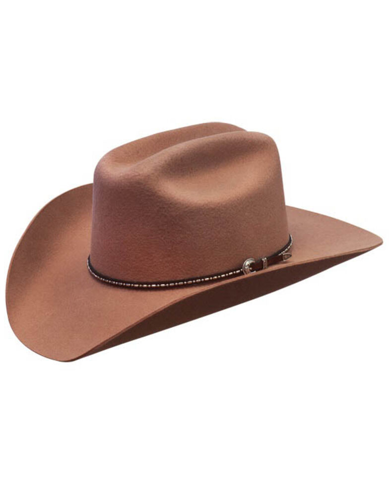 Silverado Men's Bart Satin Western Wool Felt Hat , Brown, hi-res
