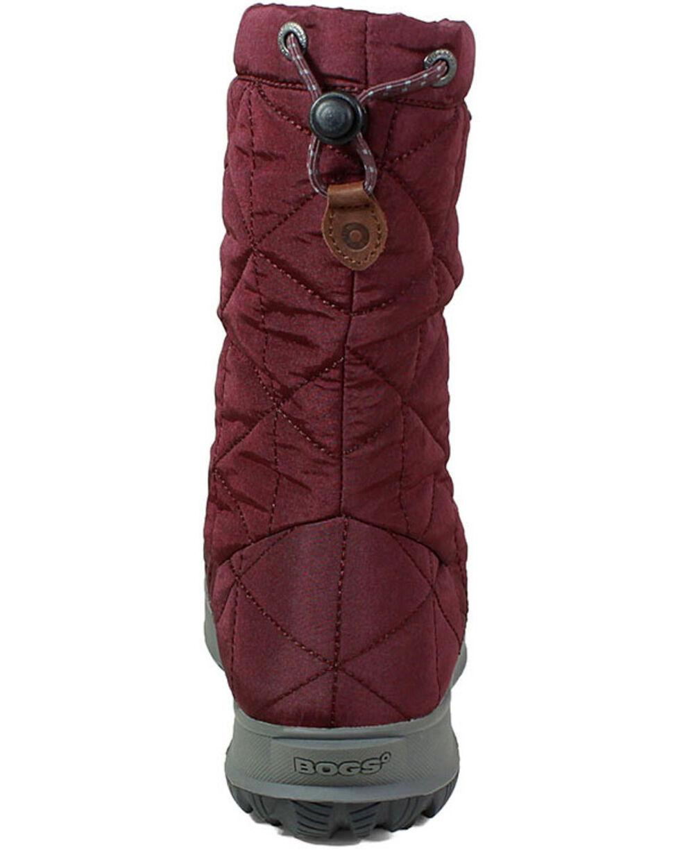 Bogs Women's Snowday Waterproof Winter Boots - Round Toe, Wine, hi-res