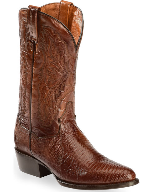 Dan Post Men's Raleigh Lizard Western Boots, Tan, hi-res