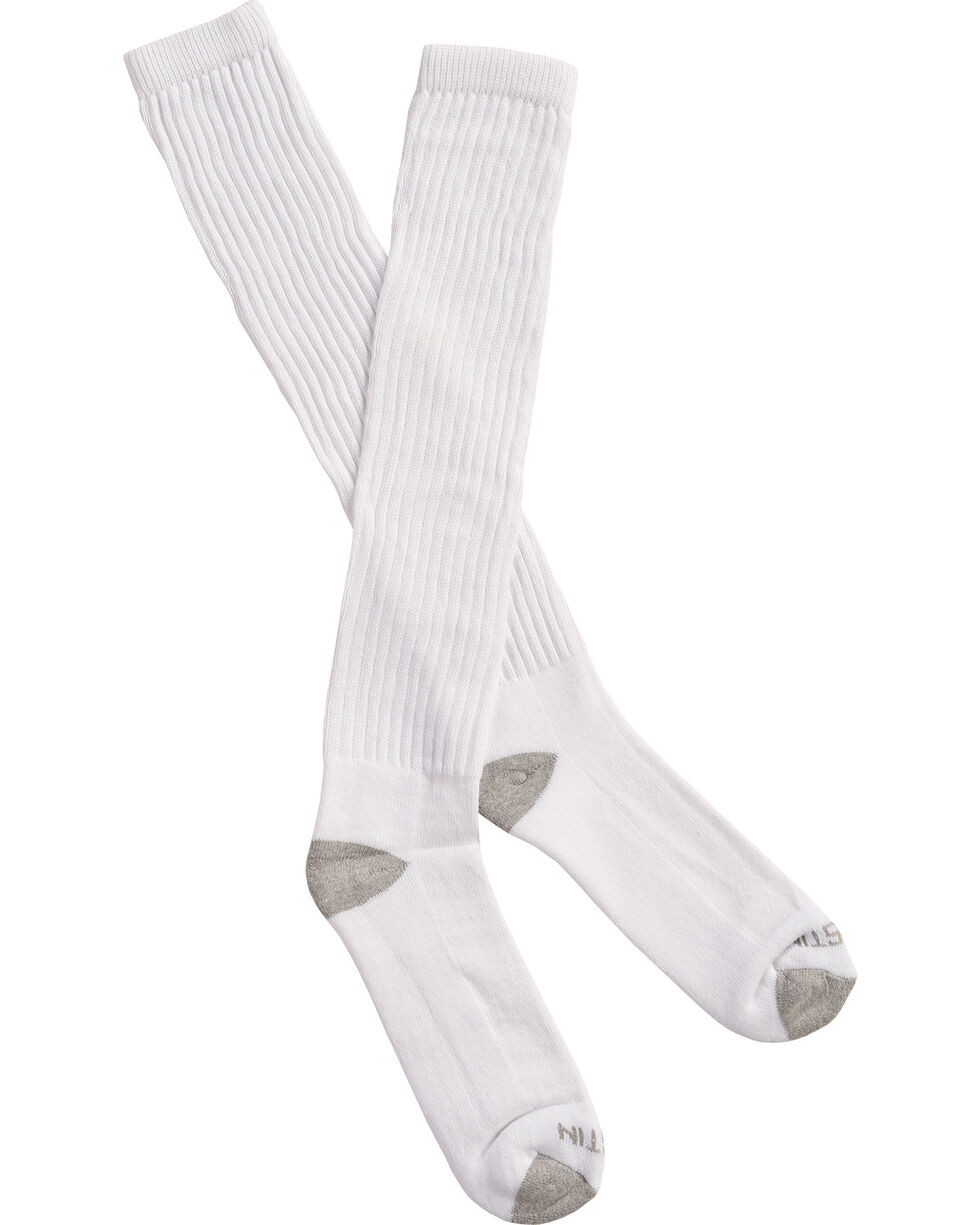 Justin Men's JUSTDRY Over-the-Calf Socks , White, hi-res