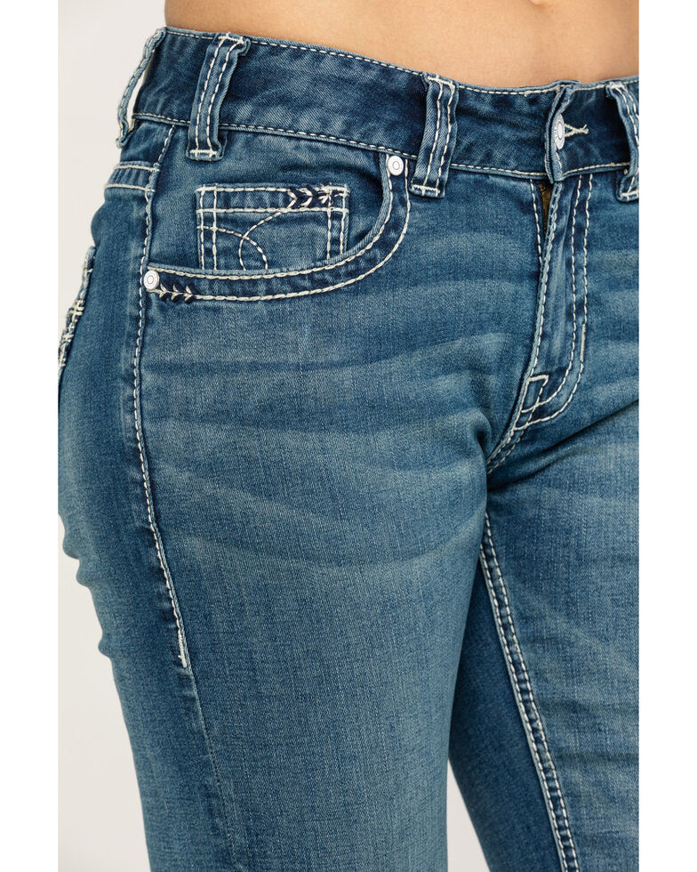 Rock & Roll Cowgirl Women's Medium Vintage Bootcut Jeans, Blue, hi-res