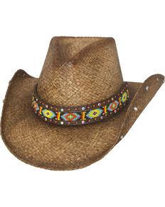 Bullhide Women's Love Myself Straw Hat, Brown, hi-res