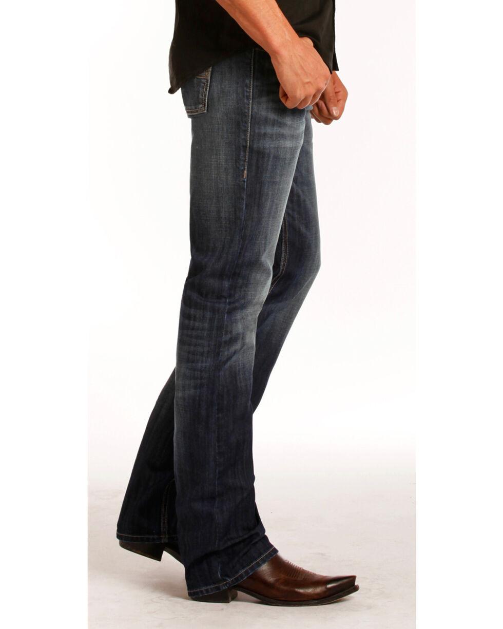 Rock & Roll Cowboy Men's Vintage Wash Revolver Straight Leg Jeans, Indigo, hi-res