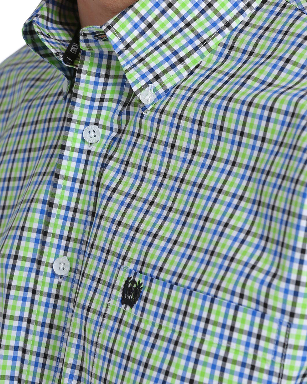Cinch Men's Multi Plaid Plain Weave Long Sleeve Button Down Shirt, Multi, hi-res