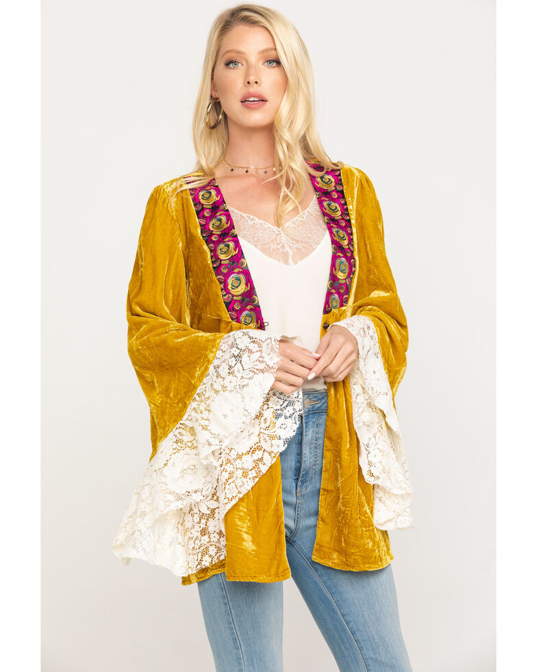 Free People Women's Wanderlust Jacket, Dark Yellow, hi-res