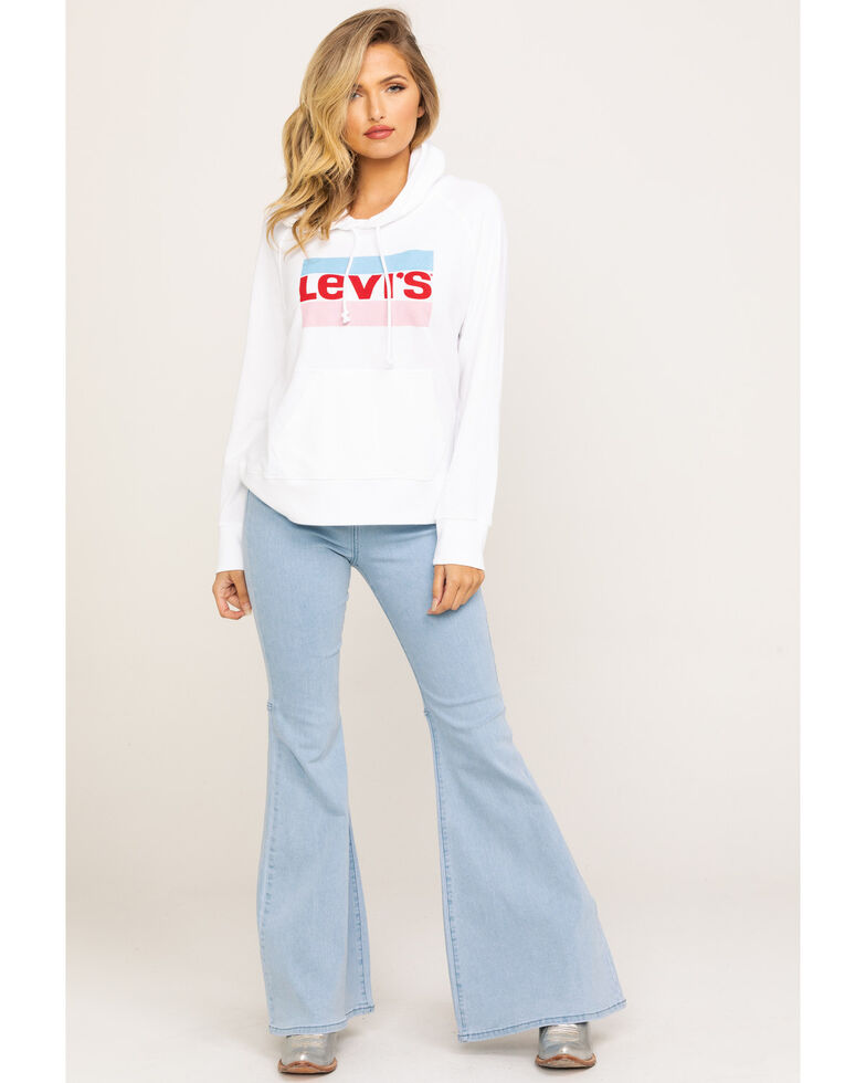 Levi's Women's Batwing Logo Fleece Hoodie, White, hi-res