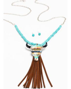 Shyanne Women's Multicolor Skull Necklace Set, Multi, hi-res