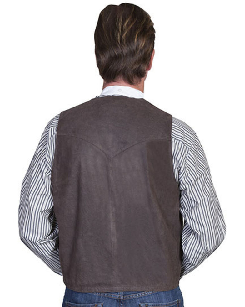 Scully Men's Frontier Leather Vest, Brown, hi-res