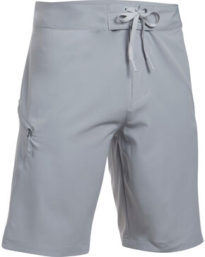 Under Armour Men's Light Grey Solid Board Shorts, Grey, hi-res