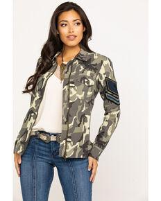 Idyllwind Women's Camo Shacket, Camouflage, hi-res