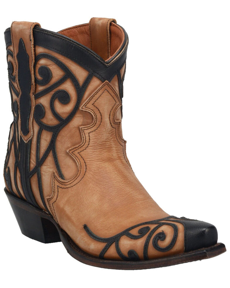 Dan Post Women's Not Bashful Western Booties - Snip Toe, Tan, hi-res