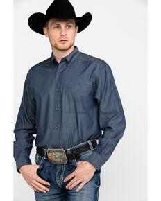 Ariat Men's Searson Geo Print Long Sleeve Western Shirt , Grey, hi-res