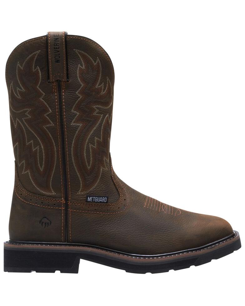 Wolverine Men's Rancher Western Work Boots - Steel Toe, Dark Brown, hi-res