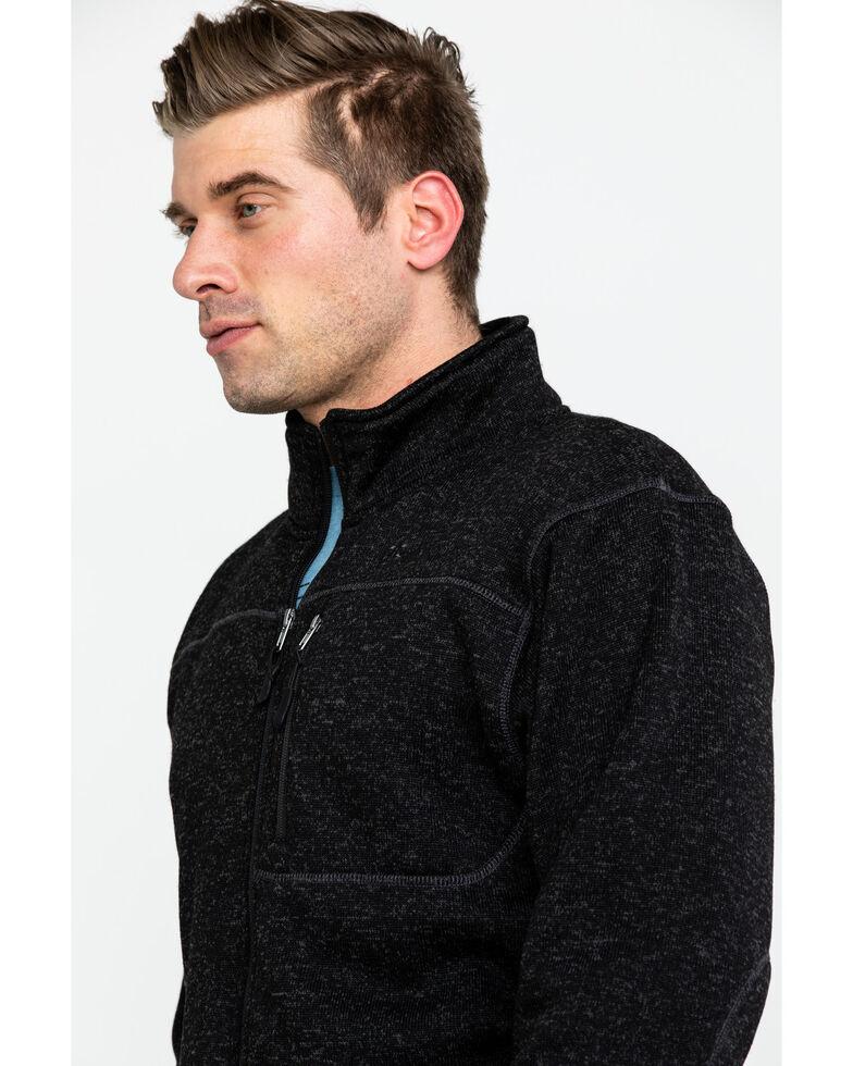 Powder River Outfitters Men's Black Melange Fleece Jacket , Black, hi-res