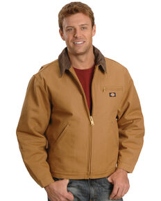 Dickies Men's Blanket Lined Duck Work Jacket, Brown Duck, hi-res
