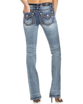 Miss Me Women's Heavy Stitched Boot Cut Jeans  , Indigo, hi-res