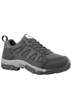 Carhartt Men's Lightweight Low Waterproof Hiker Work Shoe - Soft Toe, Black, hi-res