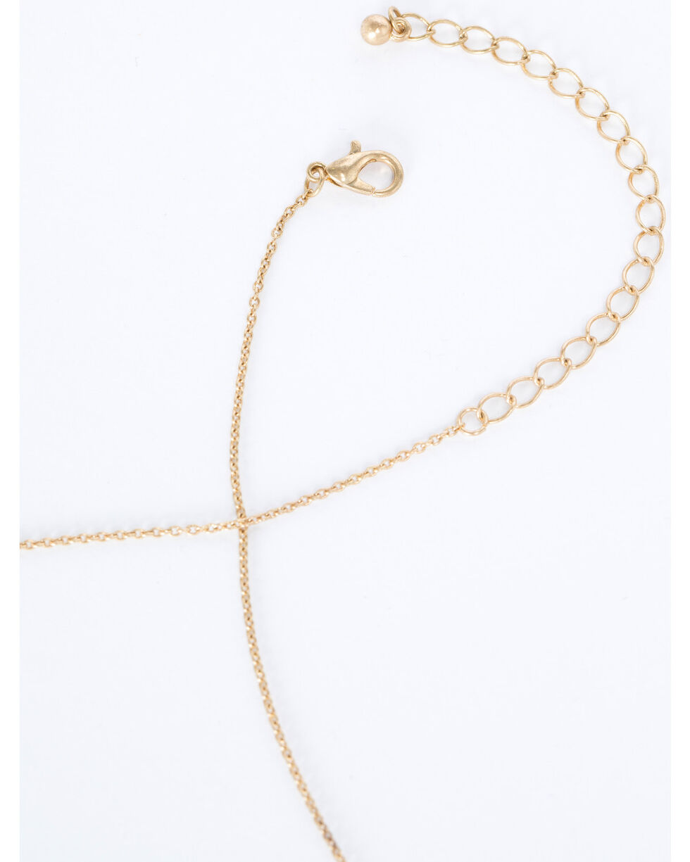 Shyanne Women's Bead and Tassel Necklace, Gold, hi-res