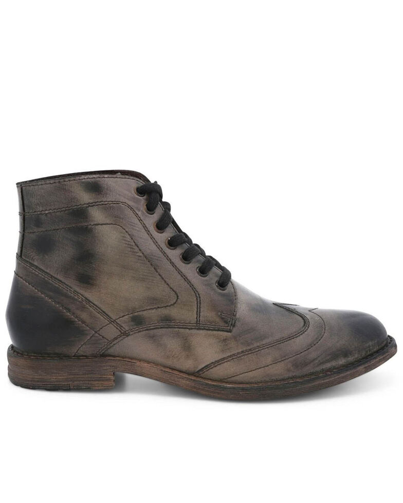 Evolutions Men's Grey Outlaw II Lace-Up Boots - Round Toe, Dark Grey, hi-res
