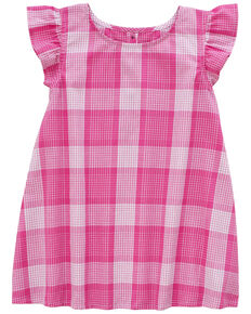 Wrangler Infant Girls' Pink Plaid Ruffle Set, Pink, hi-res