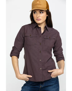 Carhartt Women's Wine Rugged Flex Bozeman Shirt, Wine, hi-res