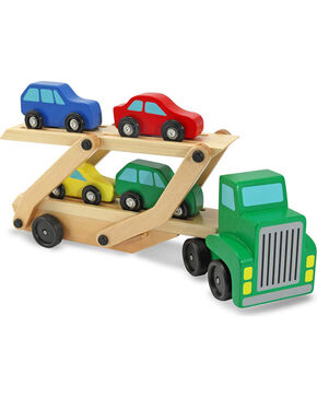Melissa & Doug Kids' Wooden Car Carrier Toy Set, No Color, hi-res