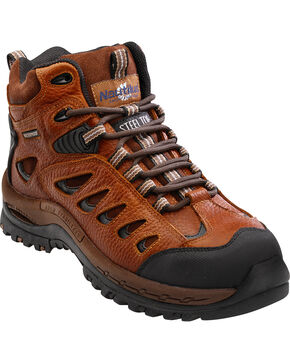 Nautilus Men's Steel Toe Waterproof Hiker Boots, Brown, hi-res