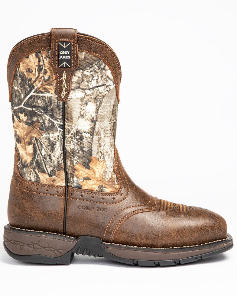 Cody James Men's Xero Lite Camo Western Work Boots - Composite Toe, Brown, hi-res