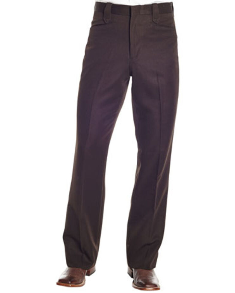 Circle S Men's Brown Polyester Western Dress Ranch Pants - Big , Brown, hi-res