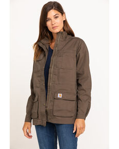 Carhartt Women's Smithville Jacket, Dark Brown, hi-res