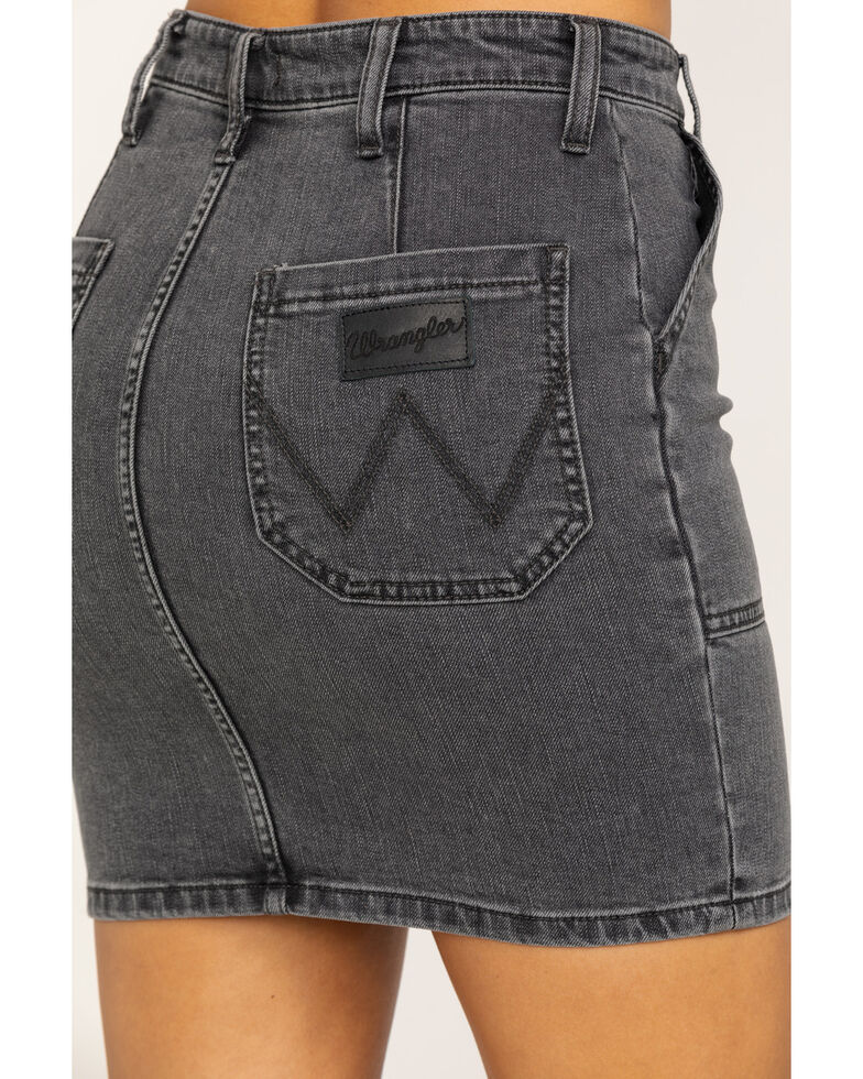 Wrangler Women's Factory Floor Utility Denim Skirt , Dark Grey, hi-res